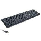 Клавиатура LuazON K-003, классическая, USB, провод 1.2 м, с цифровым блоком, чёрная
