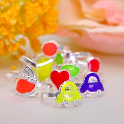 "Ring children's ""Vibracula"" neon assorted shape MIX, MIX color"