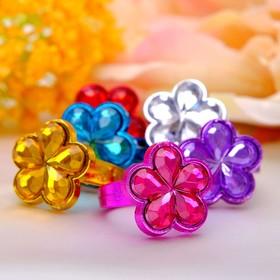 Кольцо детское 'Выбражулька' цветы принцессы, цвет МИКС Ош