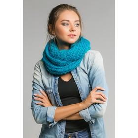 """Шарф хомут """"Нежность"""", размер 25х130 см, цвет голубой"""