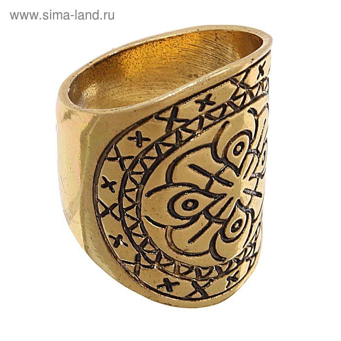 """Кольцо """"Авангард"""" в чернёном золоте, 17 размер"""
