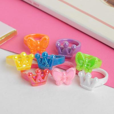 """Ring baby """"Cuts"""" crown, butterfly, form, MIX, MIX color"""