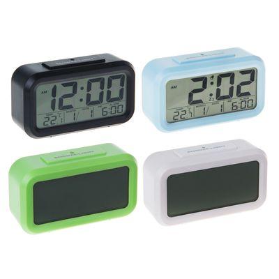 Часы-будильник LuazON LB-14, дата, календарь, температура, МИКС