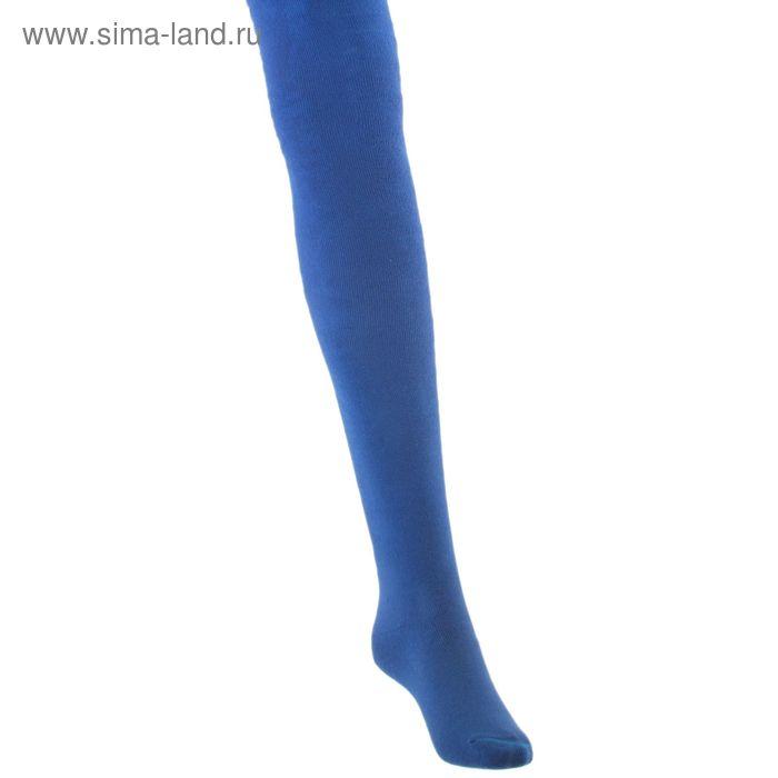 Колготки детские плюшевые ПФС70, цвет васильковый, рост 116-122 см
