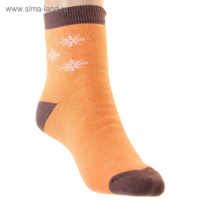 Носки детские плюшевые ПФС102-2548, цвет персиковый, р-р 20-22