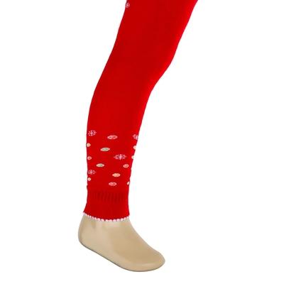 Легинсы детские плюшевые ПЛС16, цвет красный, рост 86-92 см