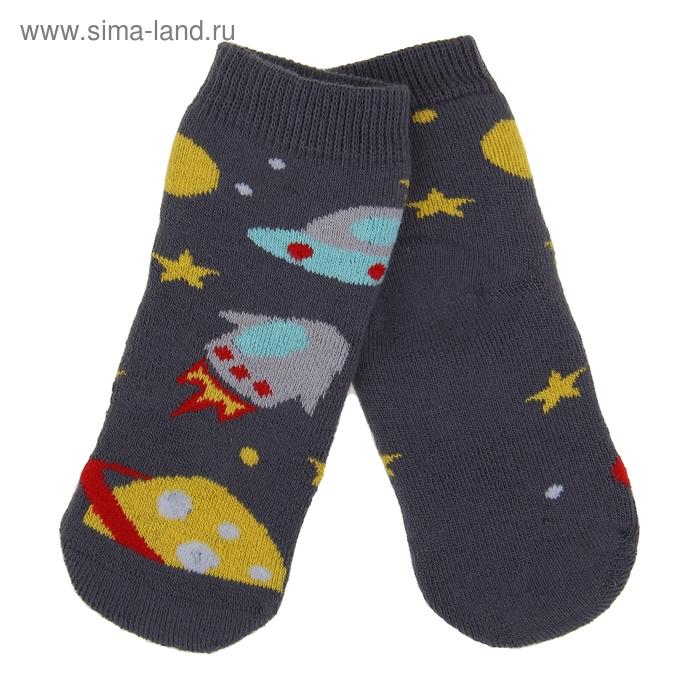 Носки детские плюшевые ПФС102-2550, цвет серый, р-р 12-14