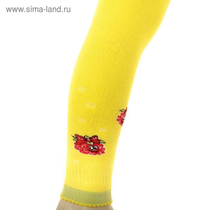Легинсы детские плюшевые ПЛС16, цвет желтый, рост 74-80 см