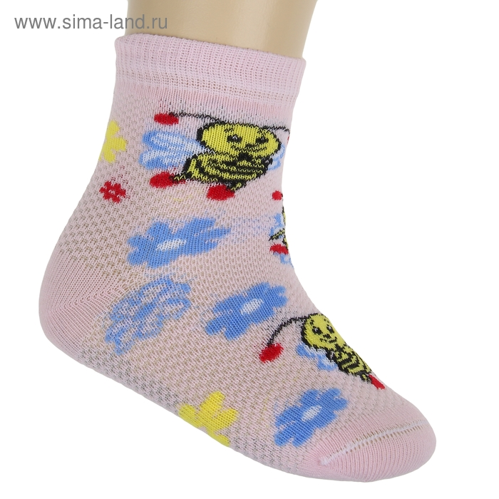 Носки детские НДД2-2166, цвет светло-розовый, р-р 12-14