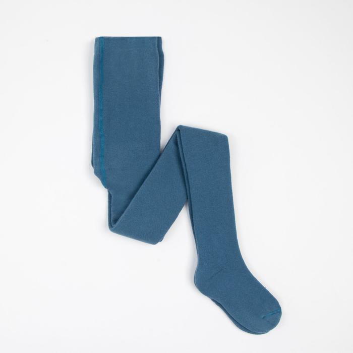 Колготки детские плюшевые ПФС70, цвет джинсовый, рост 116-122 см