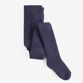 Колготки детские махровые, цвет темно-синий, рост 116-122 см