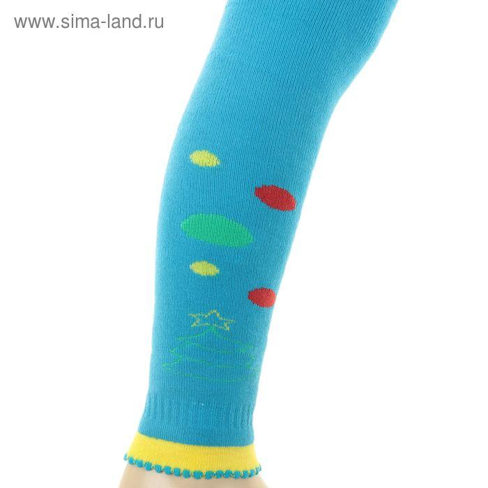 Легинсы детские плюшевые ПЛС16, цвет бирюзовый, рост 86-92 см