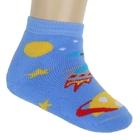 Носки детские плюшевые ПФС102-2550, цвет голубой, р-р 12-14