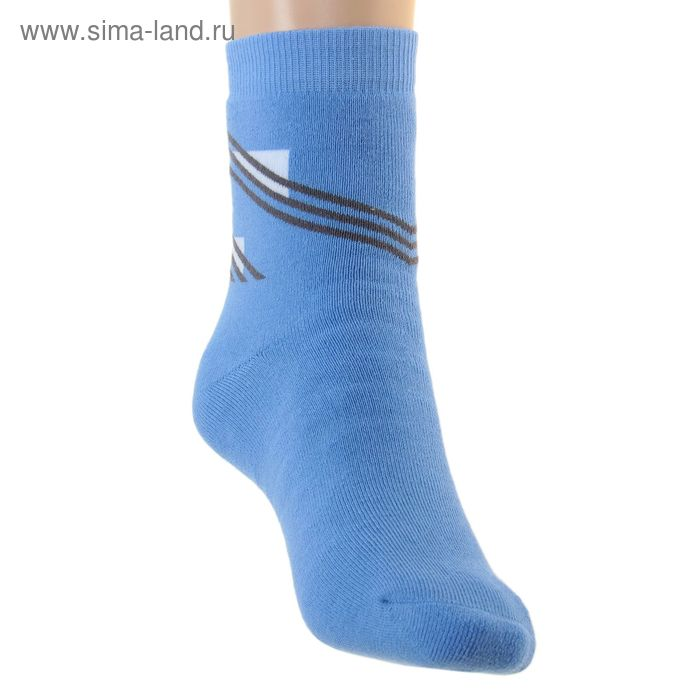 Носки детские плюшевые ПФС102-1757, цвет голубой, р-р 22-24