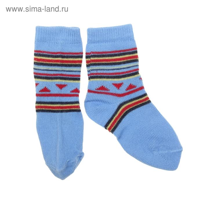 Носки детские ЛС46, цвет голубой, р-р 22