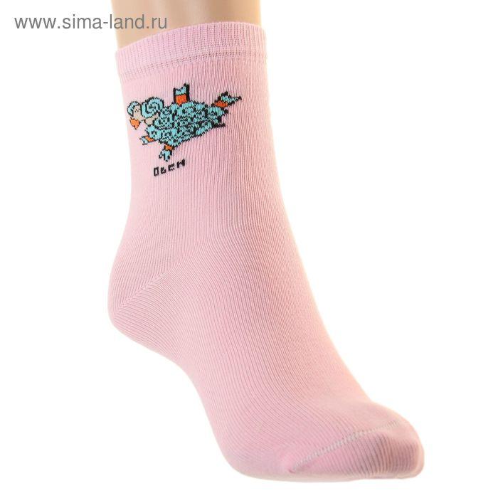 Носки детские НД4 Овен, цвет светло-розовый, р-р 20-22