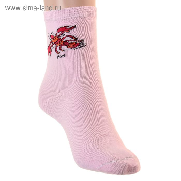 Носки детские НД4 Рак, цвет светло-розовый, р-р 20-22