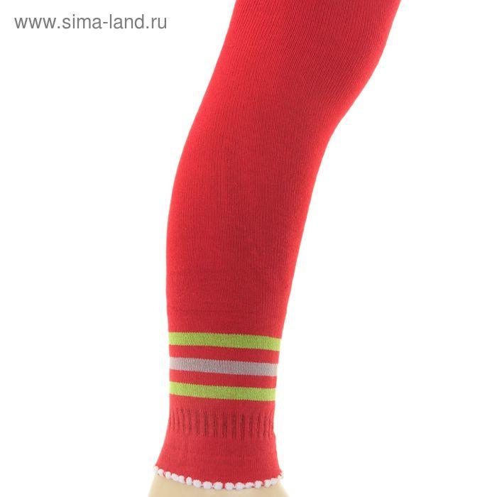 Легинсы детские плюшевые ПЛС16-2470, цвет красный, рост 86-92 см