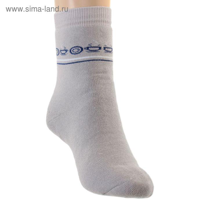 Носки детские плюшевые ПФС102-2133, цвет светло-серый, р-р 22-24