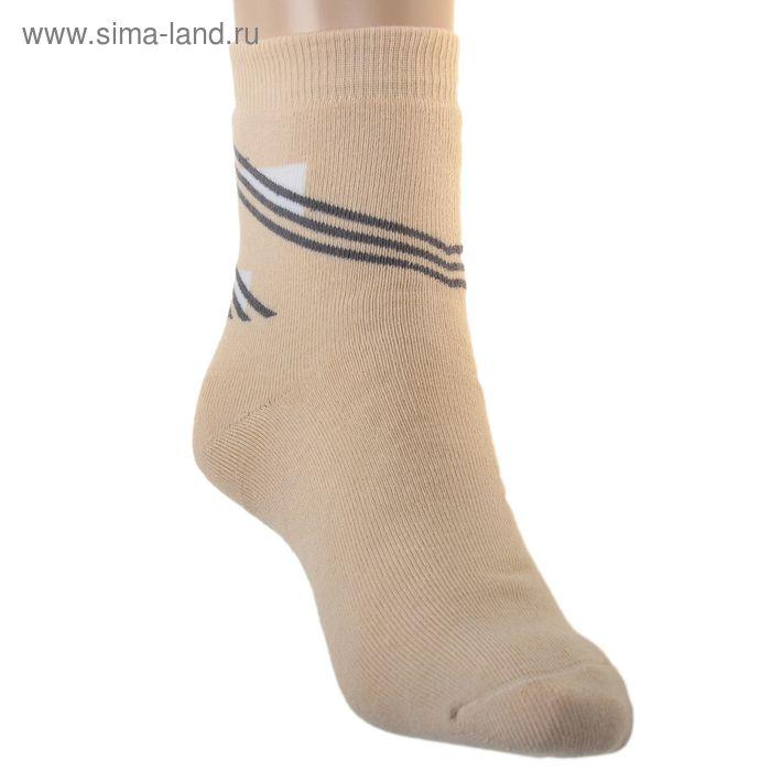 Носки детские плюшевые ПФС102-1757, цвет светло-бежевый, р-р 22-24