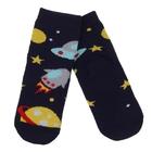 Носки детские плюшевые ПФС102-2550, цвет темно-синий, р-р 12-14