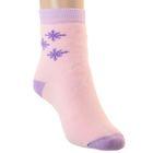 Носки новогодние детские плюшевые, цвет светло-розовый, размер 20-22
