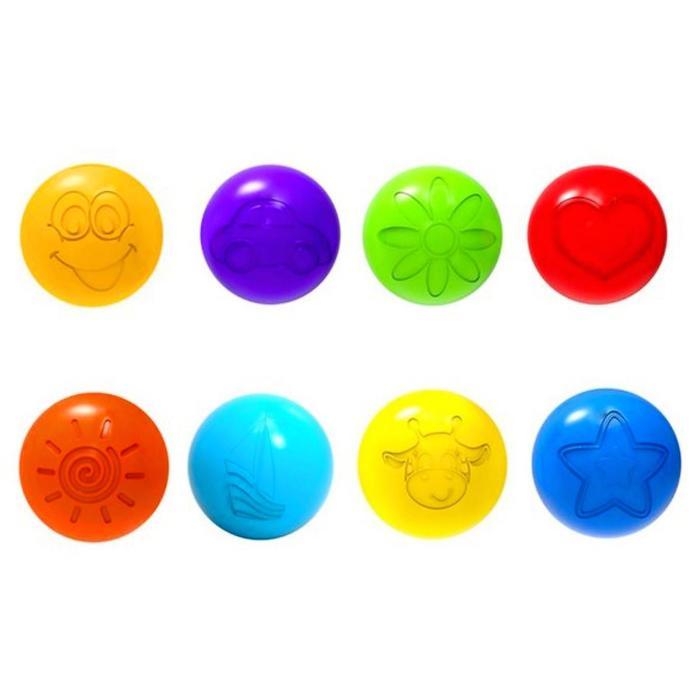 Шарики для сухого бассейна с рисунком, диаметр шара 7,5 см, набор 500 штук, цвет разноцветный