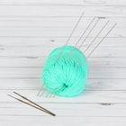 Набор для вязания: спицы двухконцевые d=1,6мм, 19,5см, 5шт; крючки вязальные d=1,0/2,0мм, 13,5см, 2шт