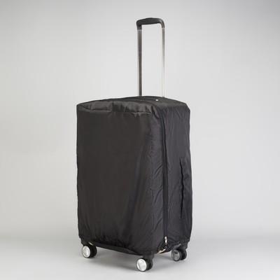 """Чехол на чемодан, средний, 24"""", 75 л, расширение по периметру, цвет чёрный"""