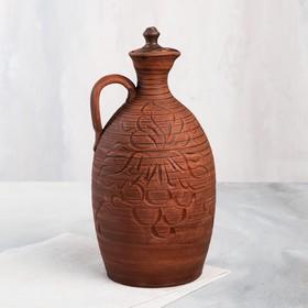 Pottery wine bottle 2.5 L, mix.