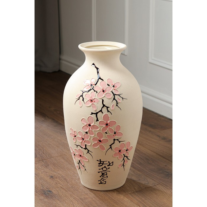 """Ваза напольная """"Классика"""", сакура, керамика, 50 см, микс - фото 1629184"""