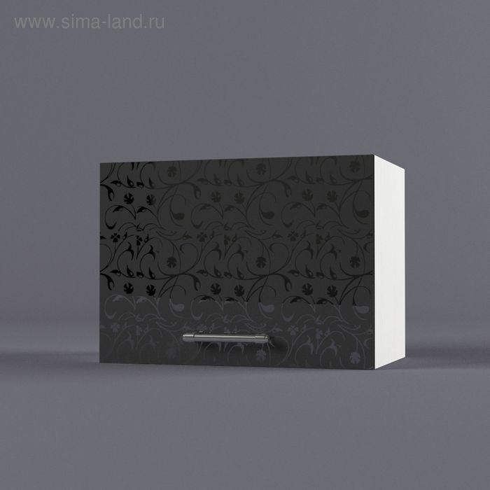 Шкаф навесной 360*500*300 Черные цветы