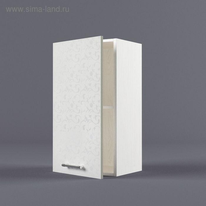 Шкаф навесной 720*400*300 Белые цветы