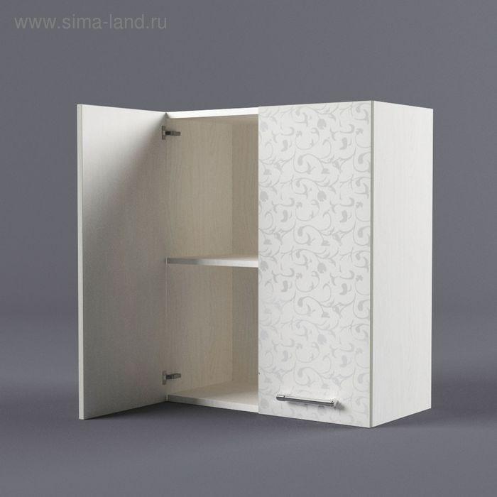 Шкаф навесной 720*600*300 Белые цветы