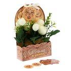 Цветы в картонном кашпо «Тепла и уюта», 12.5 × 20 см
