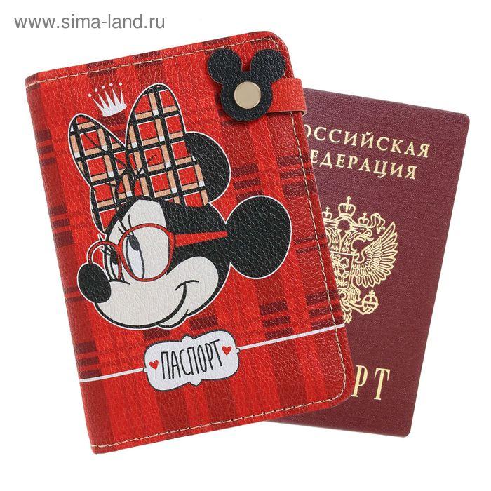 """Обложка для паспорта на заклепе """"Good girl"""", Минни Маус"""