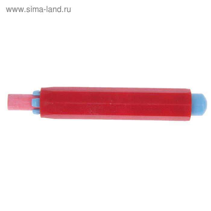 Мел для рисования, цвет красный + держатель для мела красный