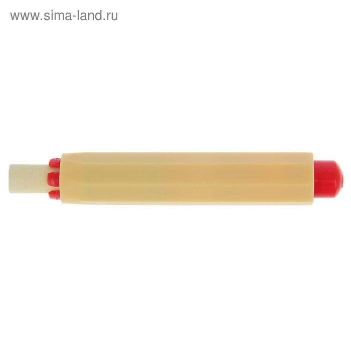 Мел для рисования, цвет желтый + держатель для мела желтый