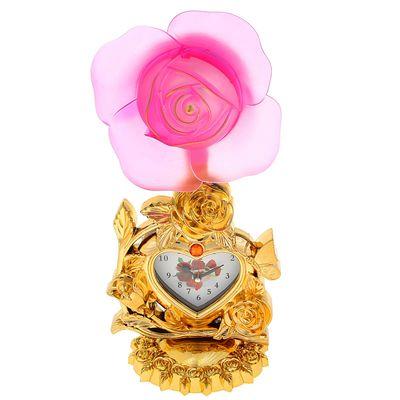 "Часы светильник ""Роза"", 34х16х11 см микс"