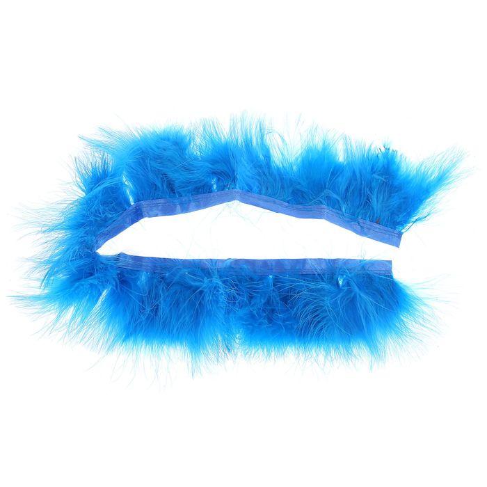 Лента перьев для декора, размер 1 шт 50*6 цвет бирюзовый