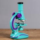 """Микроскоп """"Юный исследователь"""", кратность увеличения 450х, 200х, 100х, с подсветкой, микс  1 - фото 106541444"""
