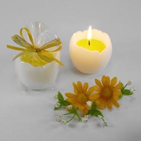 "Decorative candle ""Egg yolk"""