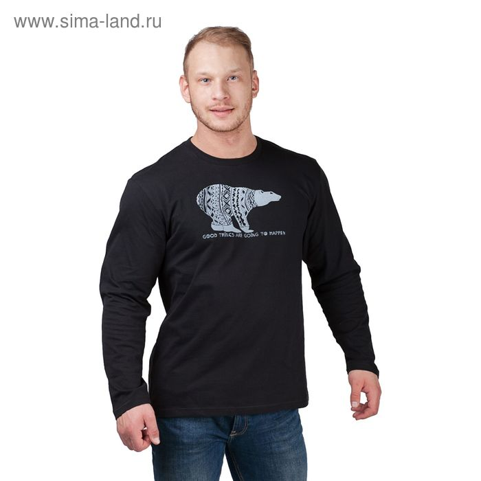 Джемпер мужской, цвет чёрный, размер 48 (арт. 20467П-28020)
