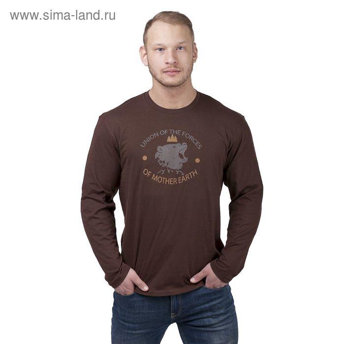 Джемпер мужской, цвет коричневый, размер 56 (арт. 20467П-28020)