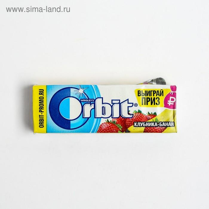"""Жевательная резинка Wrigley's Orbit """"Клубника-банан"""" 13,6 г"""
