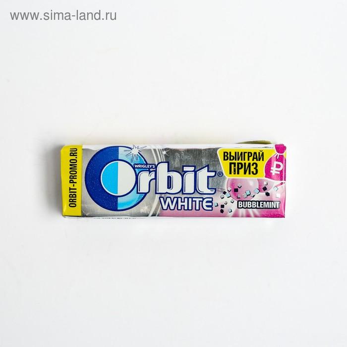 """Жевательная резинка  Wrigley's Orbit  Белоснежный """"Bubblemint"""" 13,6 г"""