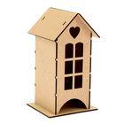 Чайный домик с окном и сердцем, набор 7 деталей