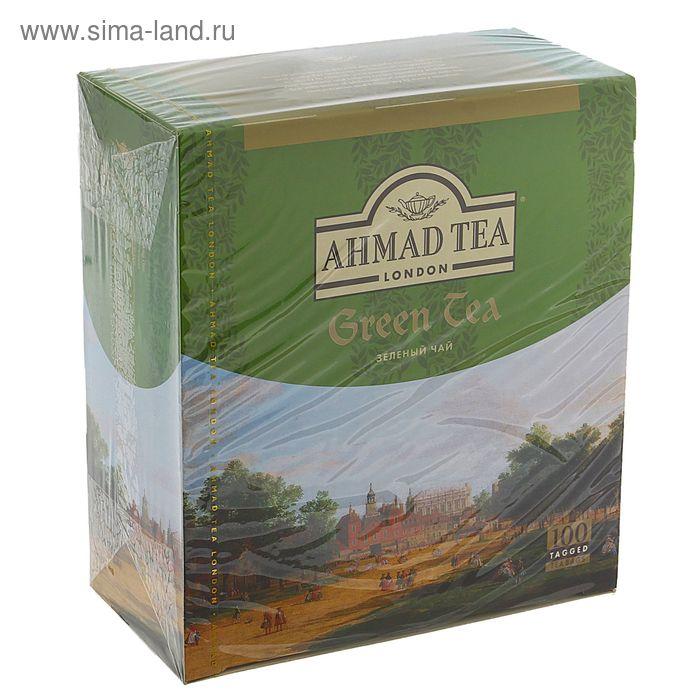 Чай зеленый Ahmad Green Tea, 100 пакетиков*2 г