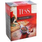 Чай черный Tess Pleasure, с шиповником и яблоком, 100 пакетиков*1,5 г