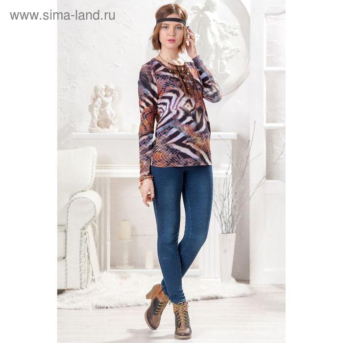 Блузка женская 4410 С+, размер 50рост 164 см,цвет коричневый